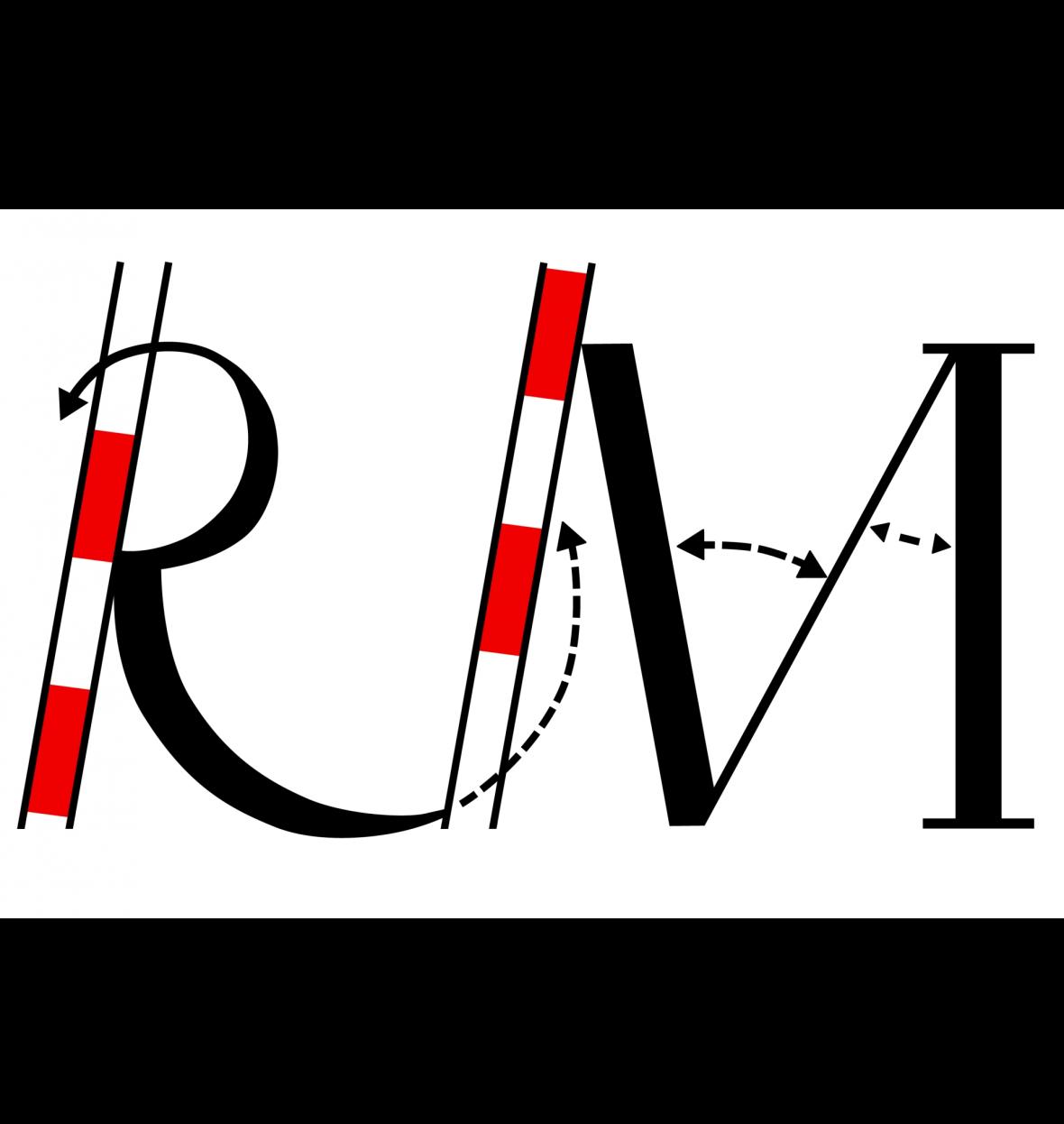 Das Logo RM des Vermessungsbüro Rox und Mertens